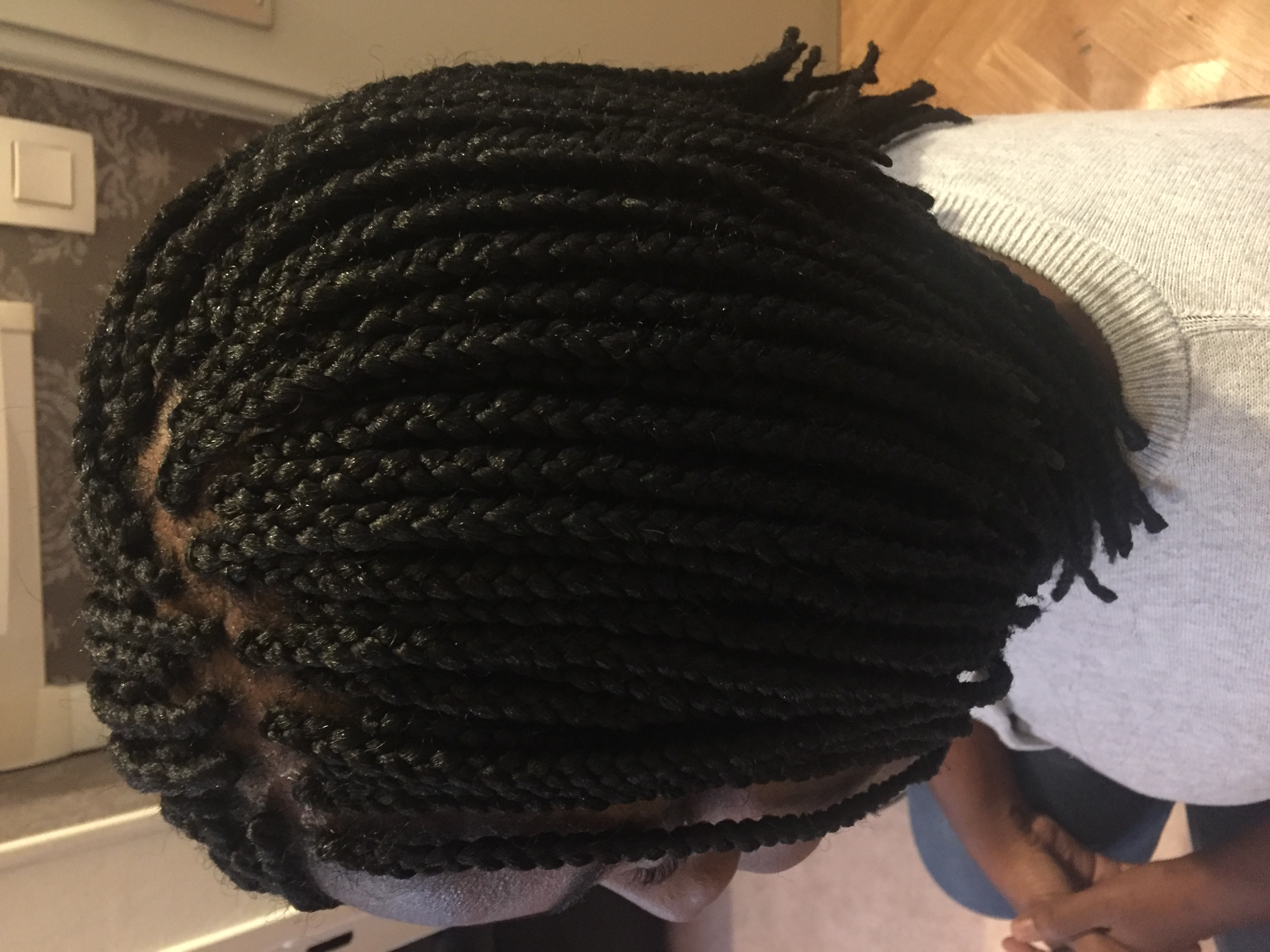 Box braids (effet carré plongeant)