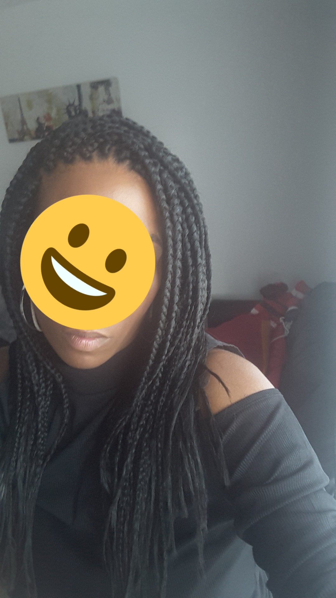 Box braids (effet mi-long)