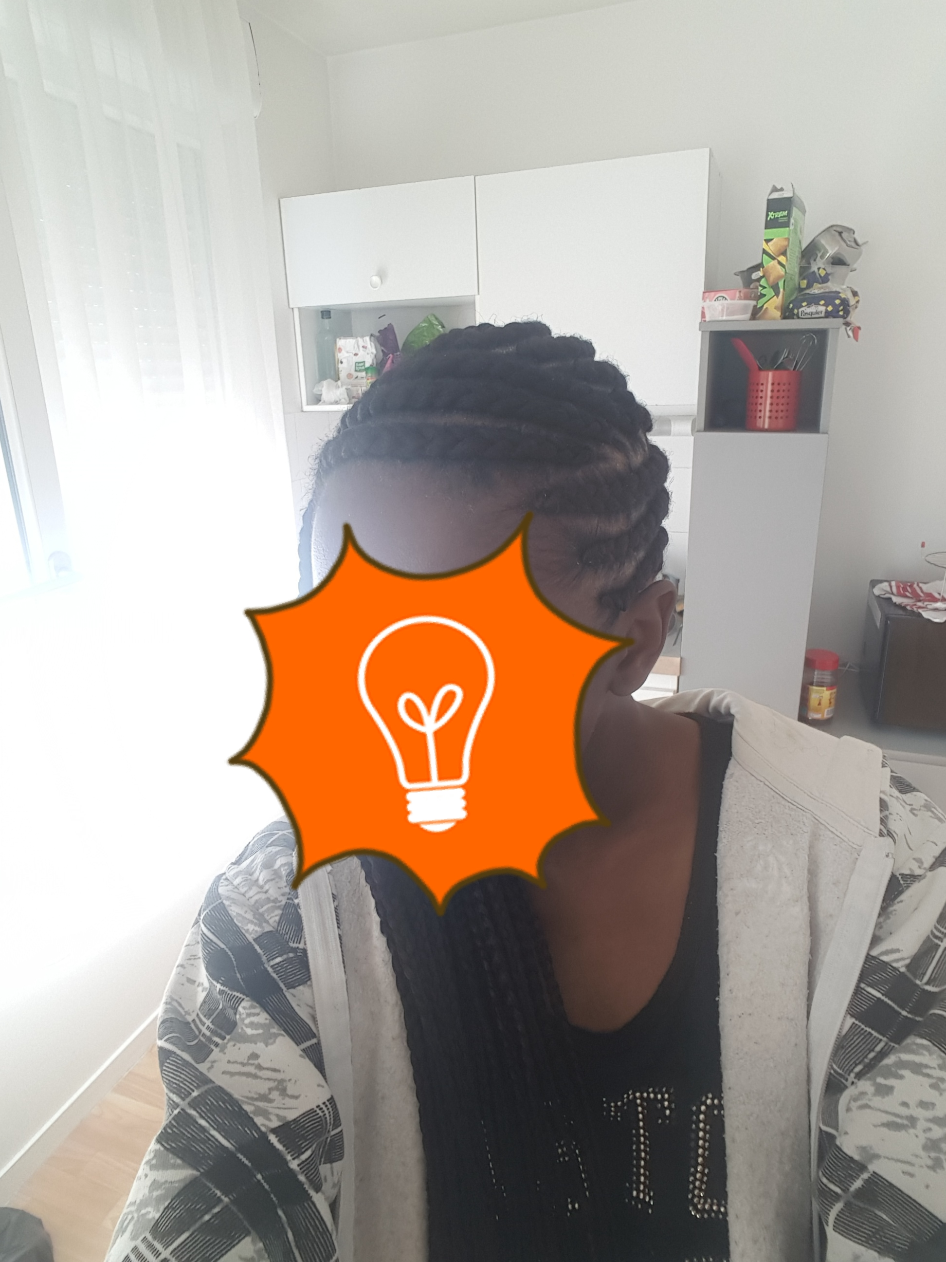 Box braids (effet mi-long)