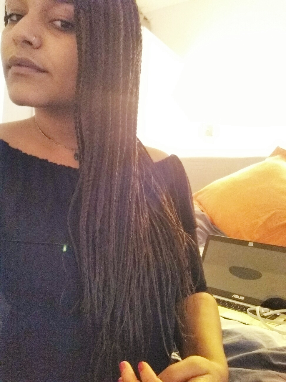 Box braids effet long